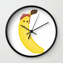 Banana in Bandana Wall Clock