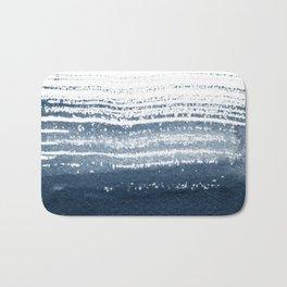 Just Indigo 1 | Minimalist Watercolor Bath Mat