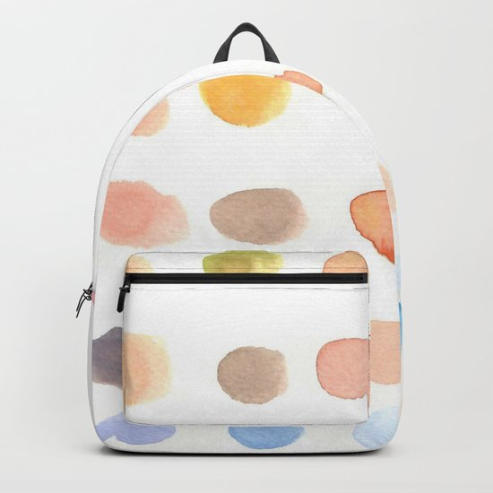 water color dot Backpack