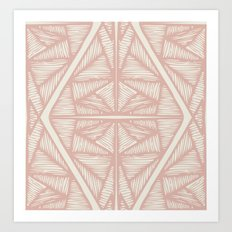 Tendons-Blush Art Print