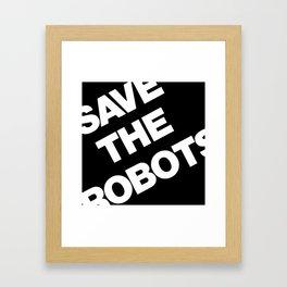 robots Framed Art Print