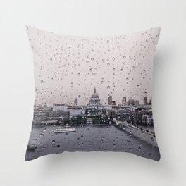 Rainy St. Paul's Throw Pillow