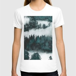 Foggy Forest Fun - Turquoise Mountains T-shirt