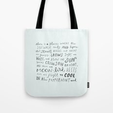 where the sidewalk ends Tote Bag