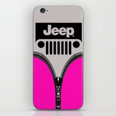 Jeep Pink Zipper iPhone & iPod Skin
