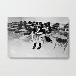 School sucks Metal Print