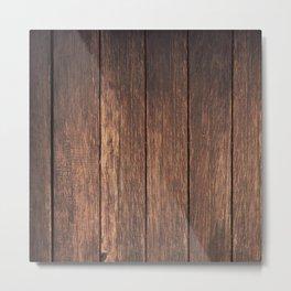 Faux Wood Metal Print