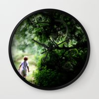 neverland Wall Clocks featuring Neverland by NishaJayne