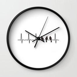 Bird Native Birds Songbird ECG Gift Wall Clock