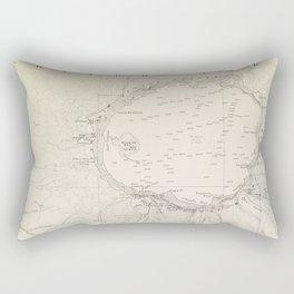 Crater Lake Vintage Map Rectangular Pillow