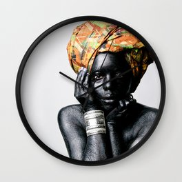 Young Mother Africa Wall Clock