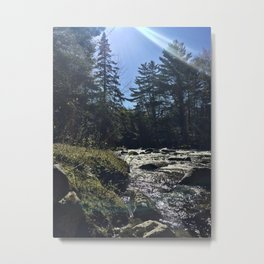 Spring on the Carrabassett River (1) Metal Print