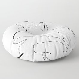 Woman-line art Floor Pillow