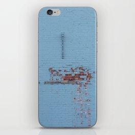 Blue Wall iPhone Skin