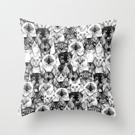 just cats Throw Pillow