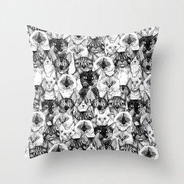 just cats Throw Pillow