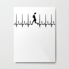 Heartbeat Tennis Gift Metal Print