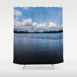One dredging lake in Germany Shower Curtain