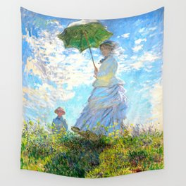 Monet : Woman with a Parasol Wall Tapestry