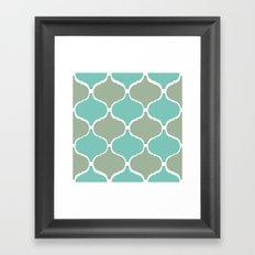 Marrakech Pattern Sea Green Framed Art Print