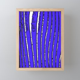Blue Seaweed Framed Mini Art Print