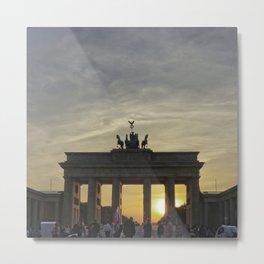 Sunset at the Brandenburg Gate, Berlin Metal Print