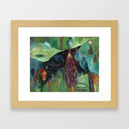 """Light Trio"" Original Painting by Flora Bowley Framed Art Print"
