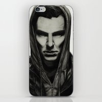 cumberbatch iPhone & iPod Skins featuring Benedict Cumberbatch by Charlotte Hussey