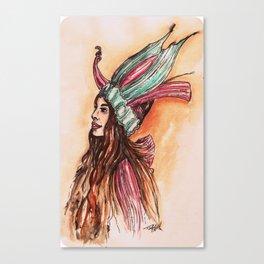 The Virgin Seed headpiece application  Canvas Print