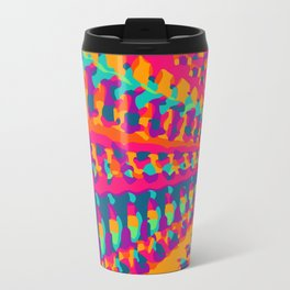 colorful art abstract background in pink blue green and orange Travel Mug