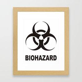 biohazard sign Framed Art Print