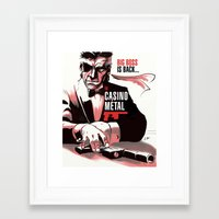 metal gear Framed Art Prints featuring METAL GEAR: Casino Metal by JoPruDuction Art