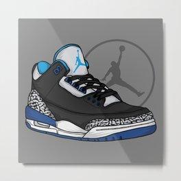 Jordan 3 (Sport Blue) Metal Print