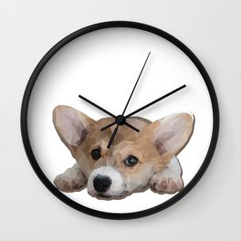 Daydreaming Corgi Wall Clock