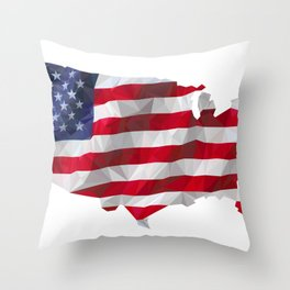 The Star-Spangled American Flag Throw Pillow