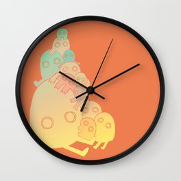 Lumps (Red) Wall Clock