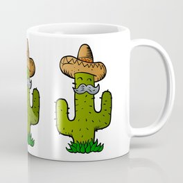 mexican cactus with mustache Coffee Mug
