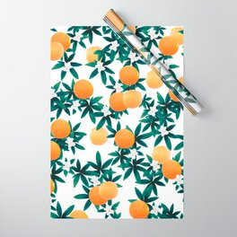 Orange Twist Flower Vibes #2 #tropical #fruit #decor #art #society6 Wrapping Paper