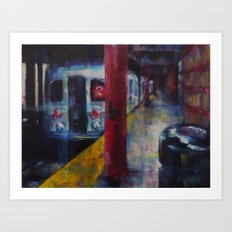 Underneath NYC: Hoyt Street on the 2/3 Line Art Print