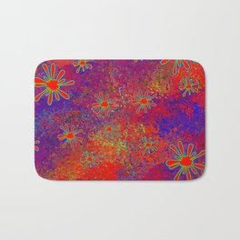 Splats and Blobs in Red Comic Pop-Art Bath Mat