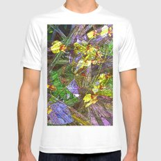 Angels in the Garden MEDIUM White Mens Fitted Tee