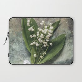 Beautiful Lily Of The Valley Laptop Sleeve