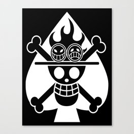 Fire fist ace Canvas Print