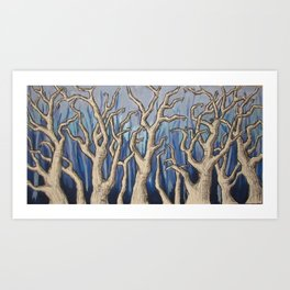Sans Winter Art Print