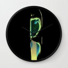 Mysterious Beautifull Girl Wall Clock