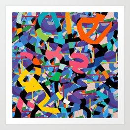 Confetti Terrazzo Abstract Joyful Pattern Art by Emmanuel Signorino Art Print