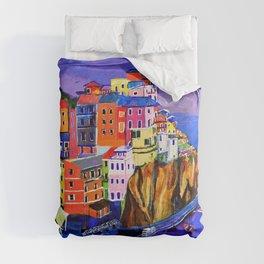 Manarola Cinque Terre Comforters