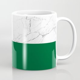 emerald green and white marble Coffee Mug