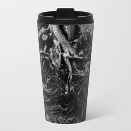 Black and White Tree Root Photography Print Travel Mug