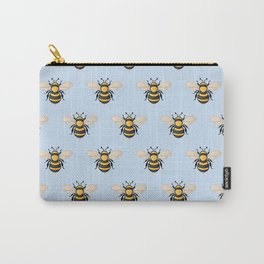 Honey Bee - Blue (Pattern) Carry-All Pouch